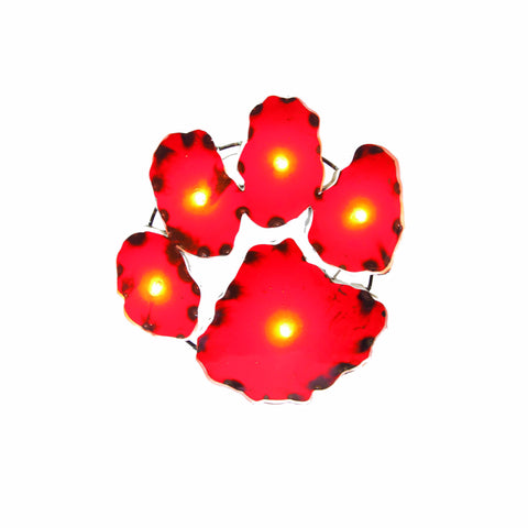Clemson University Tiger Paw Lighted Recycled Metal Wall Decor