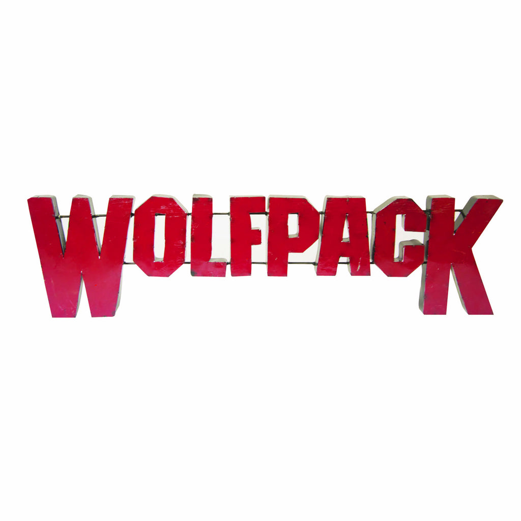"NC State University ""Wolfpack"" Recycled Metal Wall Decor"