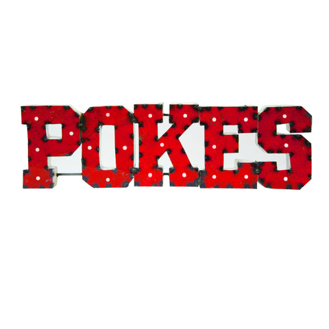"Oklahoma State University ""Pokes"" Lighted Recycled Metal Wall Decor"