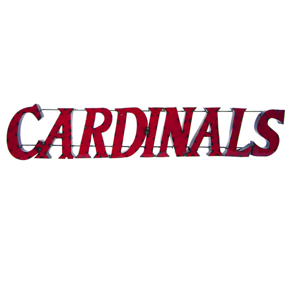 "University of Louisville ""Cardinals"" Recycled Metal Wall Decor"