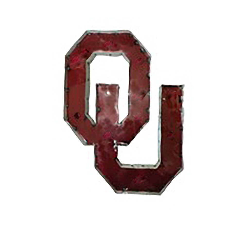 "University of Oklahoma ""OU"" Recycled Metal Wall Decor"