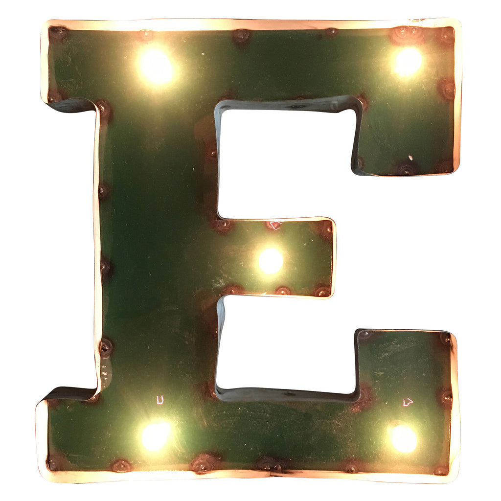 "East Michigan ""E"" Lighted Recycled Metal Wall Decor"