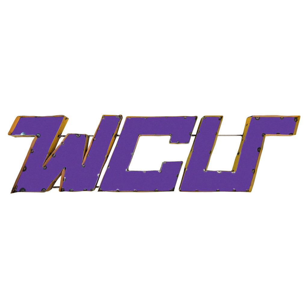"West Chester University ""WCU"" Recycled Metal Wall Decor"