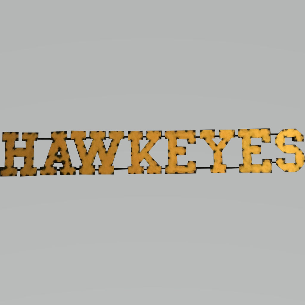 "Iowa ""Hawkeyes"" Recycled Metal Wall Decor"