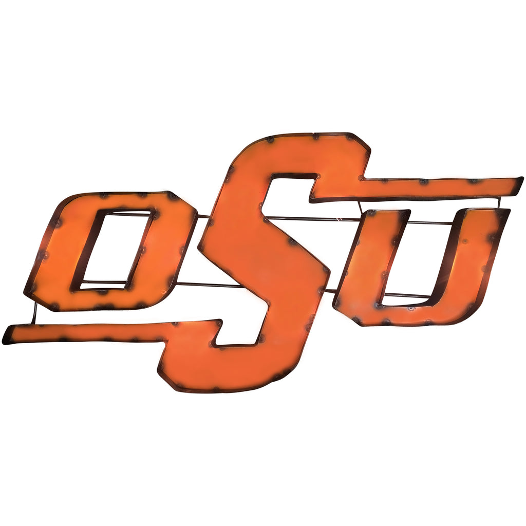 "Oklahoma State University ""OSU"" Recycled Metal Wall Decor"