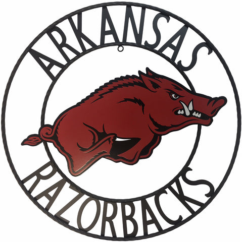 University of Arkansas Razorbacks Wrought Iron Wall Decor