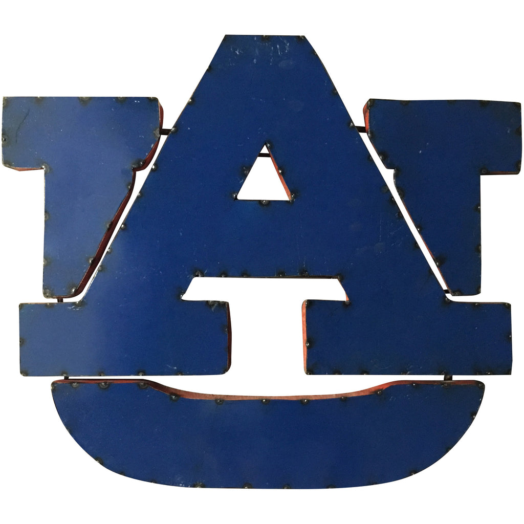 "Auburn University ""UA"" Classic Logo Recycled Metal Wall Decor"