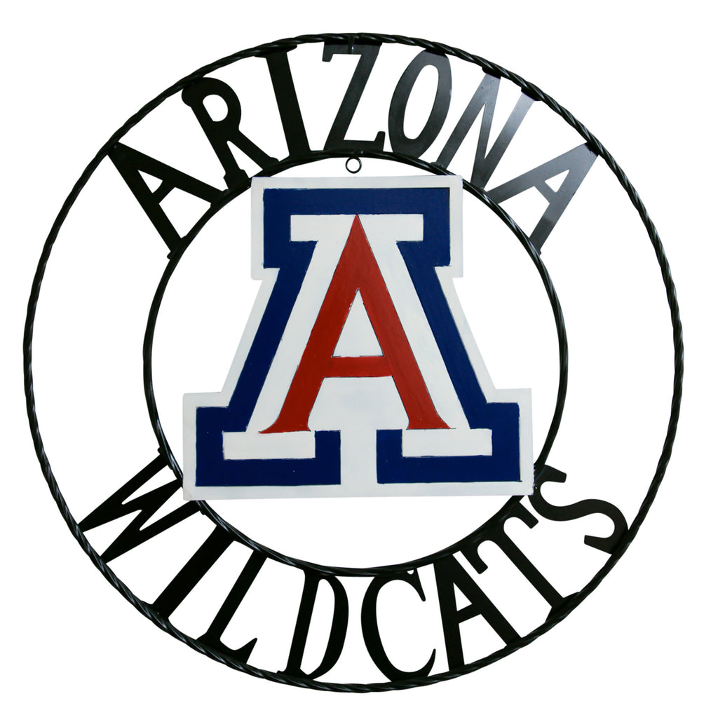 University of Arizona Wildcats Wrought Iron Wall Decor