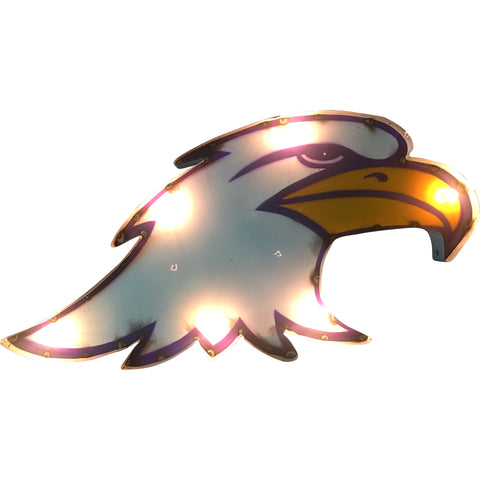 Ashland University Eagle Lighted Recycled Metal Wall Decor