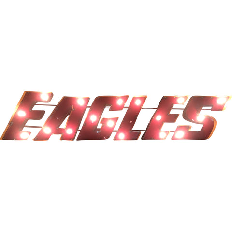 "Boston College ""Eagles"" Lighted Recycled Metal Wall Decor"
