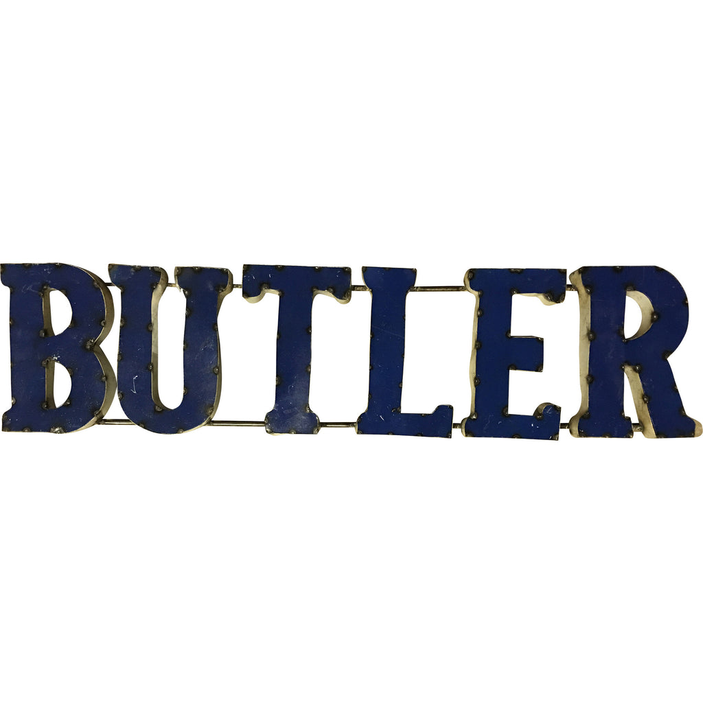 "Butler University ""Butler"" Recycled Metal Wall Decor"