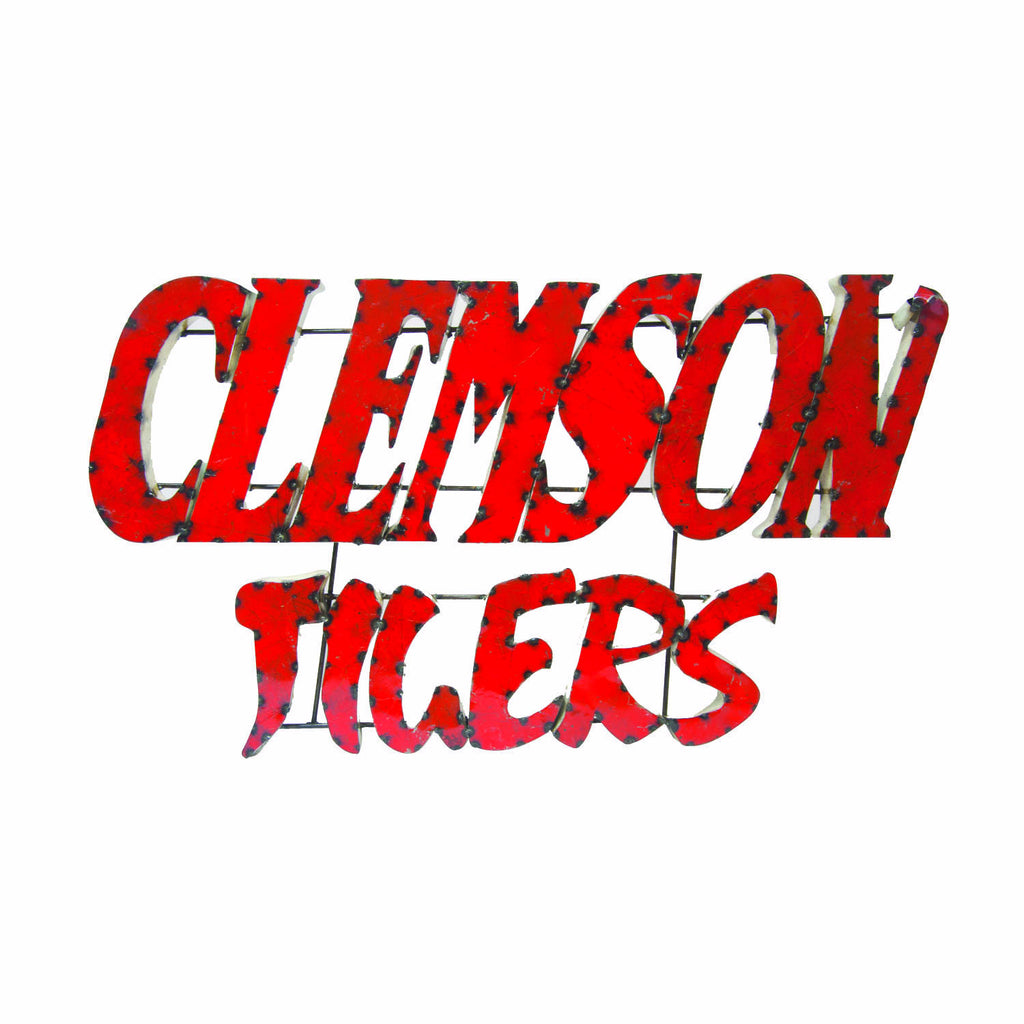 "Clemson University ""Clemson Tigers"" Stacked Recycled Metal Wall Decor"
