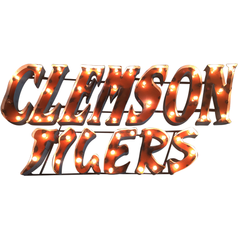 "Clemson University ""Clemson Tigers"" Stacked Lighted Recycled Metal Wall Decor"