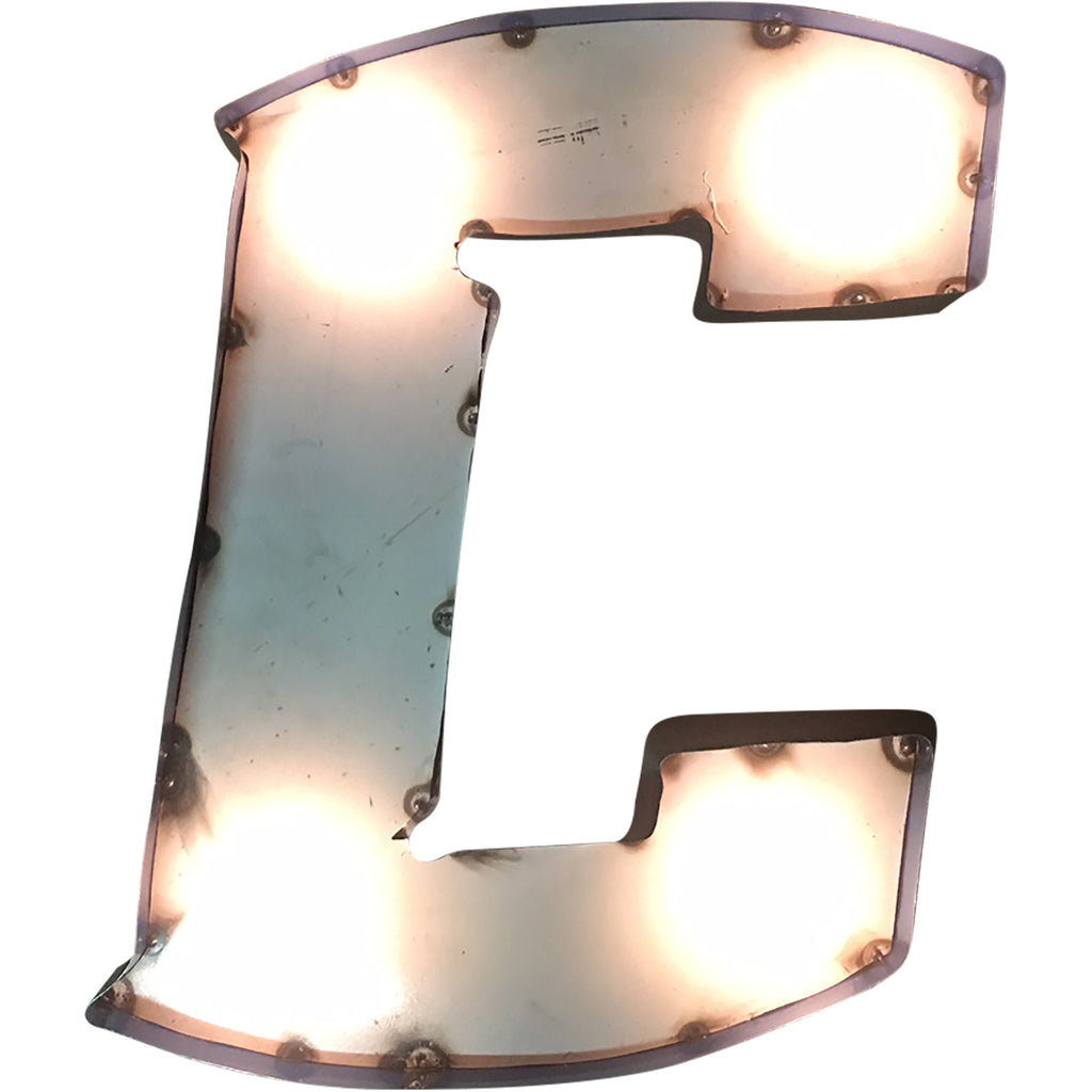 "Creighton University ""C"" Lighted Recycled Metal Wall Decor"