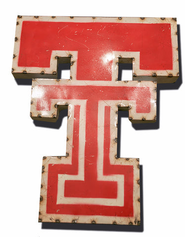 Texas Tech University Double T Logo Recycled Metal Wall Decor