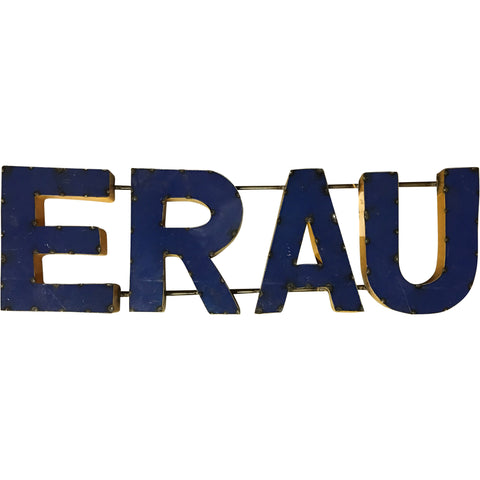 "Embry Riddle Aero University ""ERAU"" Recycled Metal Wall Decor"