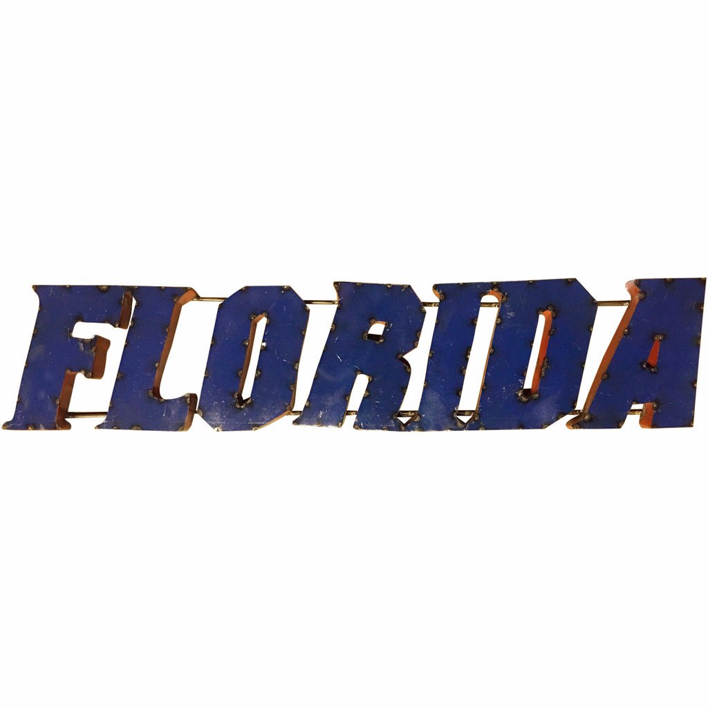 "University of Florida ""Florida"" Recycled Metal Wall Decor"