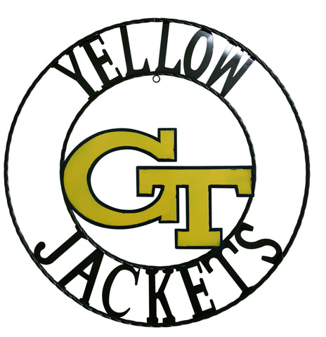 Georgia Tech Yellow Jackets Wrought Iron Wall Decor