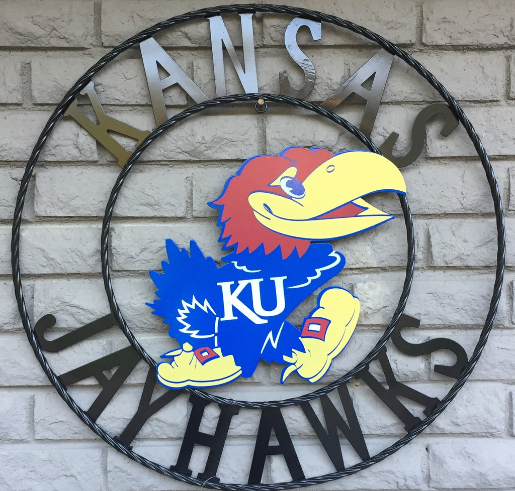 University of Kansas Jayhawks Wrought Iron Wall Decor