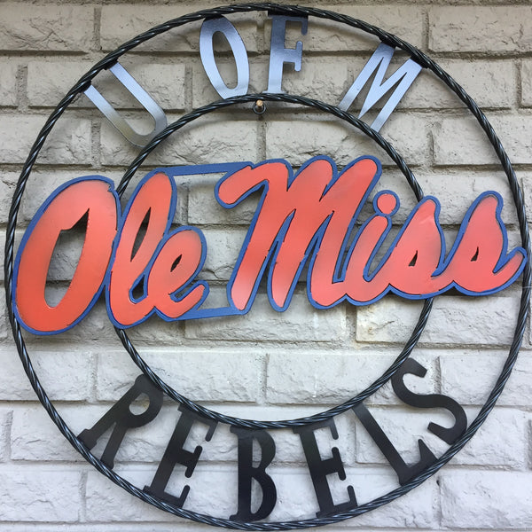 University of Mississippi Ole Miss Rebels Wrought Iron Wall Decor