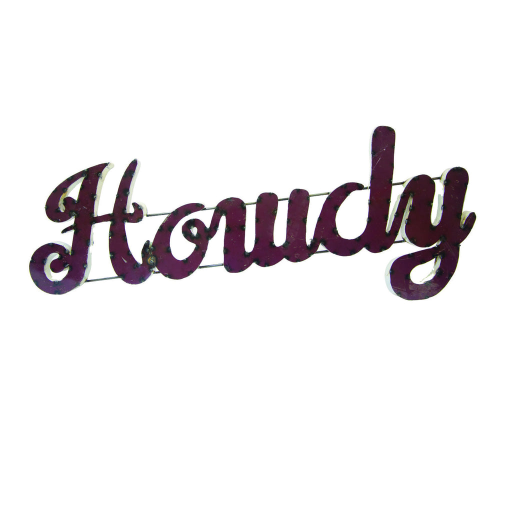 "Texas A&M University ""Howdy"" Recycled Metal Wall Decor"