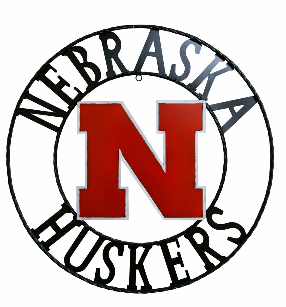 University of Nebraska Huskers Wrought Iron Wall Decor