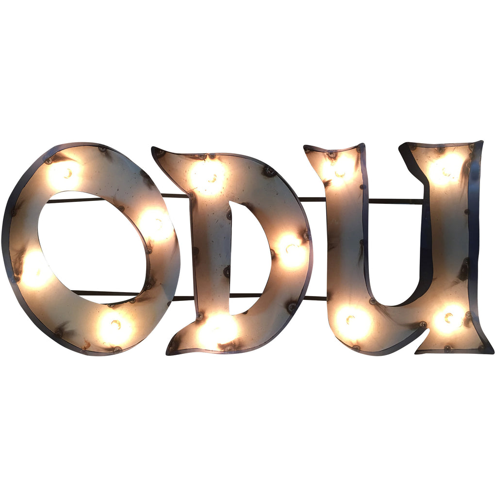 "Old Dominion University ""ODU"" Lighted Recycled Metal Wall Decor"
