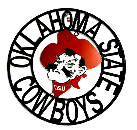 Oklahoma State University Cowboys Wrought Iron Wall Decor
