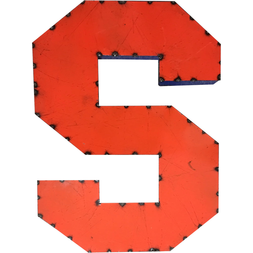 "Syracuse ""S"" Recycled Metal Wall Decor"