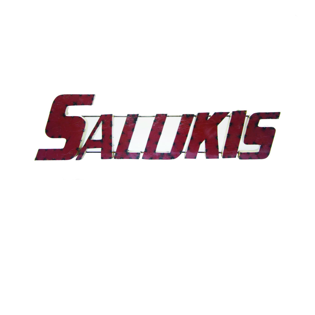 "Southern Illinois University ""Salukis"" Recycled Metal Wall Decor"