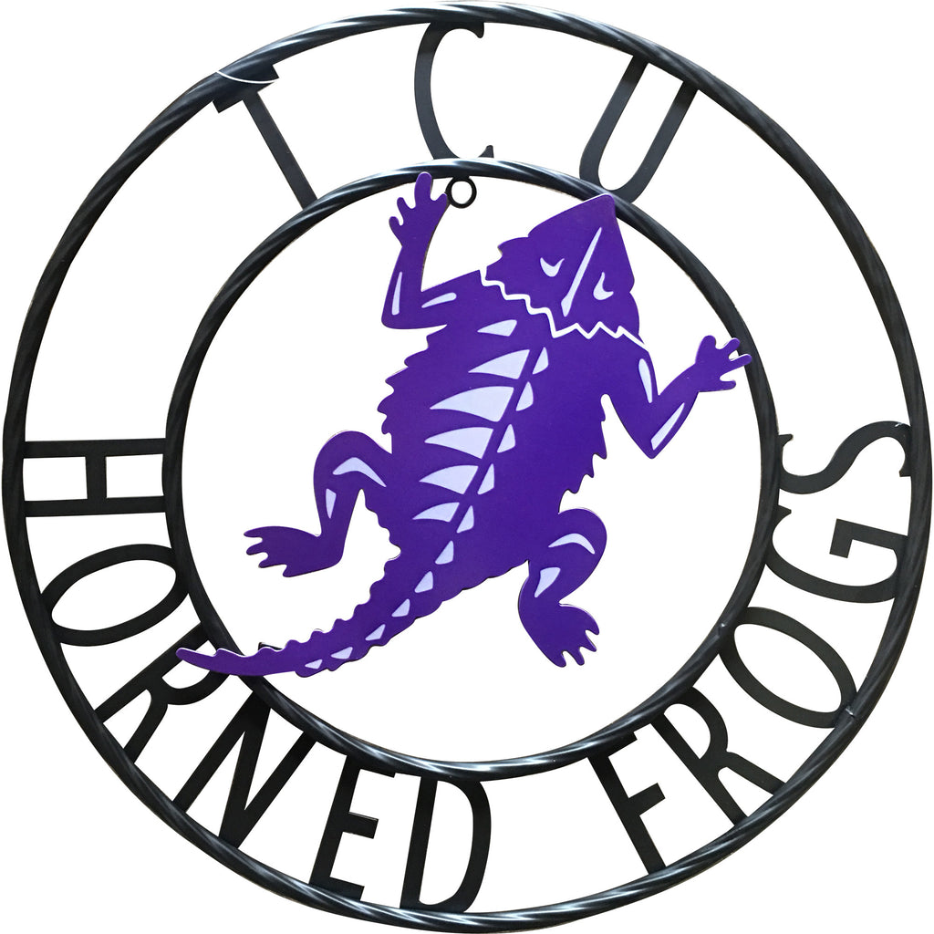 "Texas Christian University ""TCU Horned Frogs"" Wrought Iron Wall Decor"