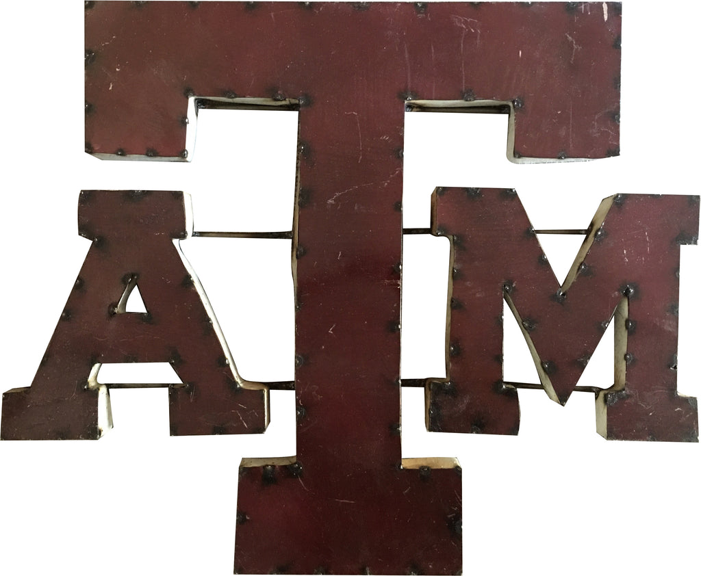 Texas A&M University A&M Logo Recycled Metal Wall Decor