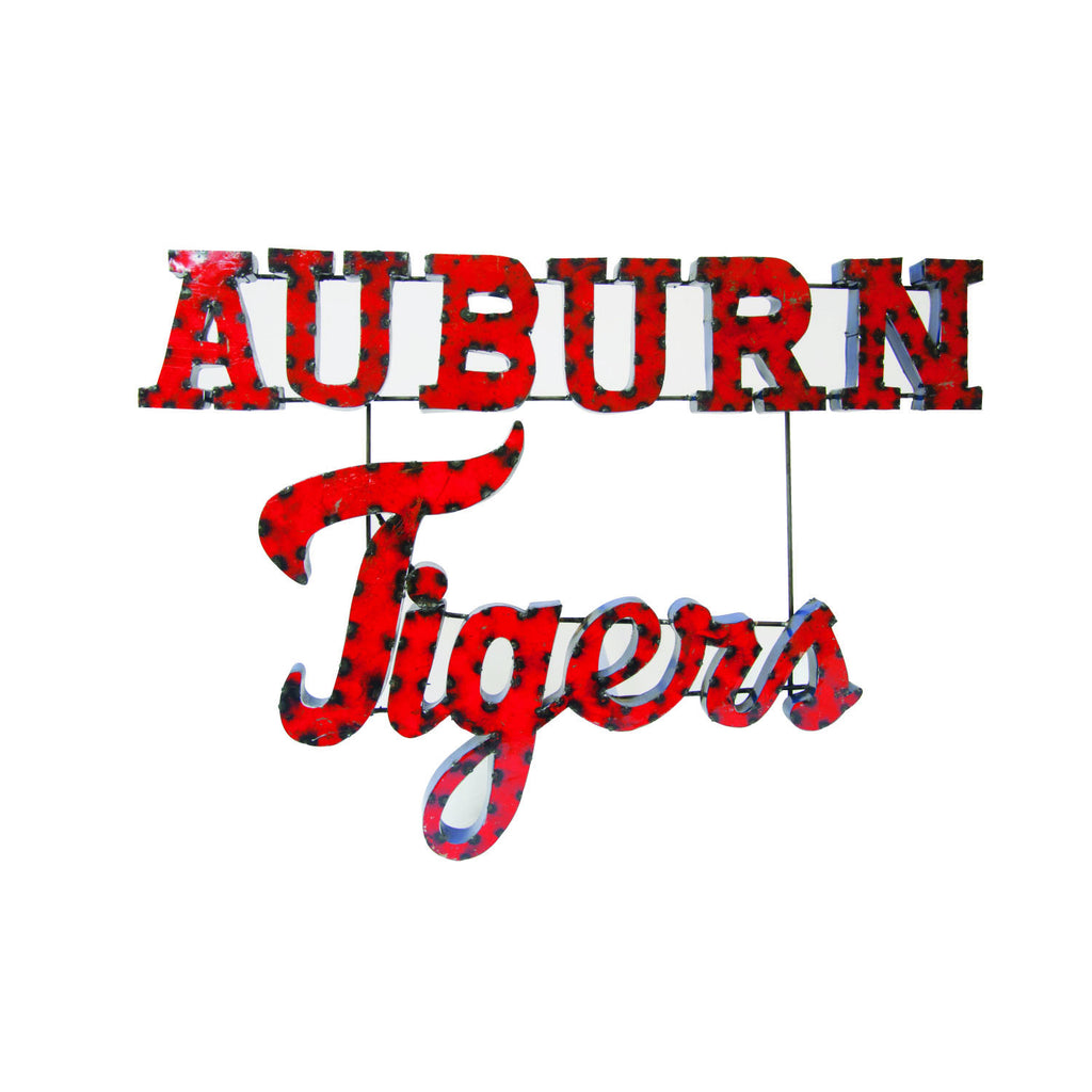 "Auburn University ""Auburn Tigers"" Stacked Recycled Metal Wall Decor"