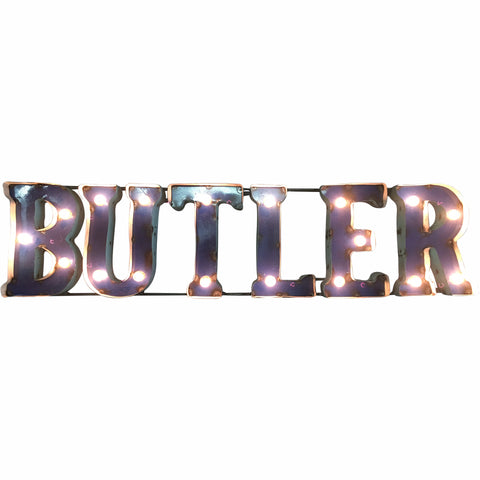 "Butler University ""Butler"" Lighted Recycled Metal Wall Decor"