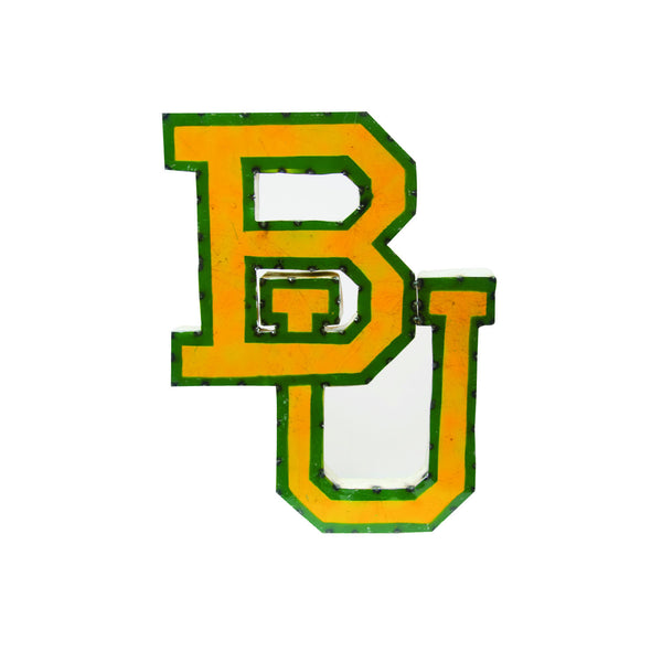 "Baylor University ""BU"" Recycled Metal Wall Decor"