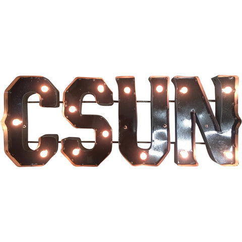 "California State University Northridge ""CSUN"" Lighted Recycled Metal Wall Decor"