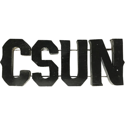 "California State University Northridge ""CSUN"" Recycled Metal Wall Decor"