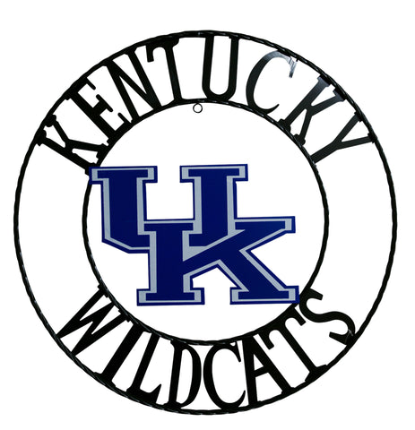 University of Kentucky Wildcats Wrought Iron Wall Decor