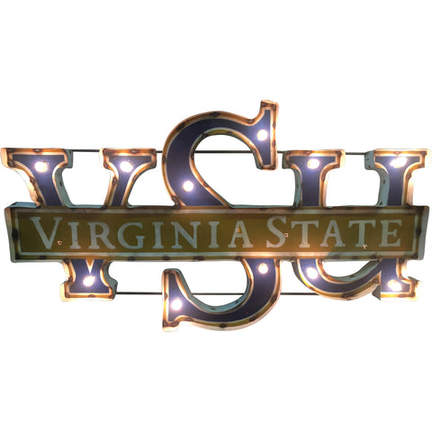 "Virginia State University ""VSU"" Lighted Recycled Metal Wall Decor"