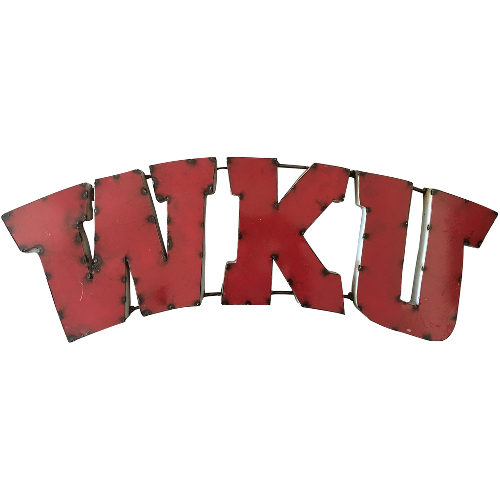 "Western Kentucky University ""WKU"" Recycled Metal Wall Decor"