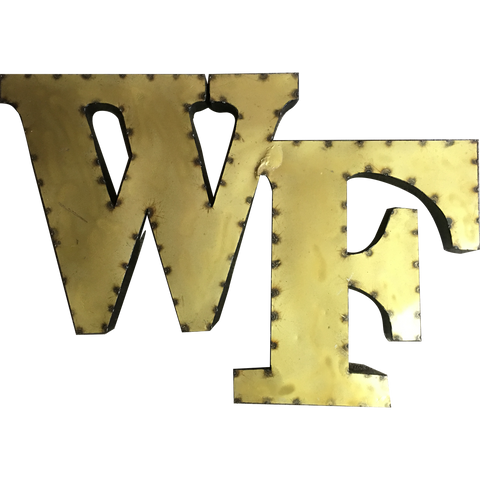 "Wake Forest ""WF"" Logo Recycled Metal Wall Decor"