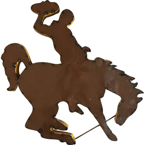 University of Wyoming Mascot Recycled Metal Wall Decor