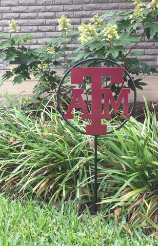 Texas A&M University Logo Wrought Iron Yard Decor