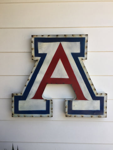 "University of Arizona Classic ""A"" Logo Recycled Metal Wall Decor"