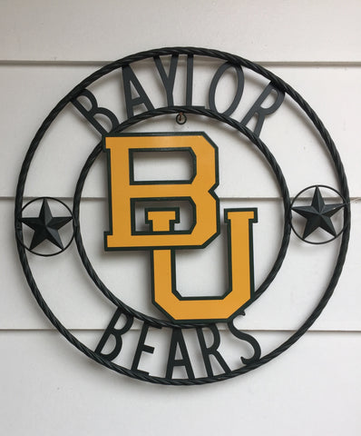Baylor University Bears Wrought Iron Wall Decor