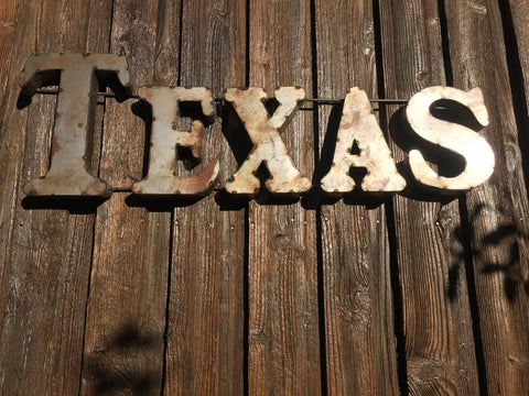 TEXAS RUSTIC RECYCLED METAL WALL DECOR