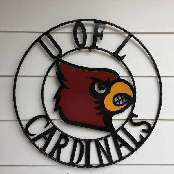 University of Louisville Cardinals Wrought Iron Wall Decor