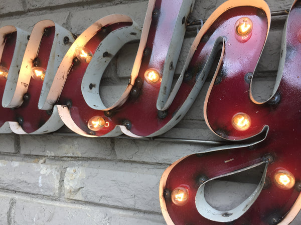 "Texas A&M University ""Howdy"" Lighted Recycled Metal Wall Decor"