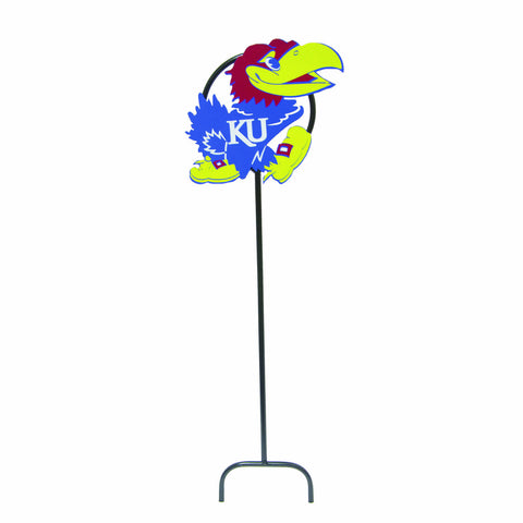 University of Kansas Jayhawk Wrought Iron Yard Decor