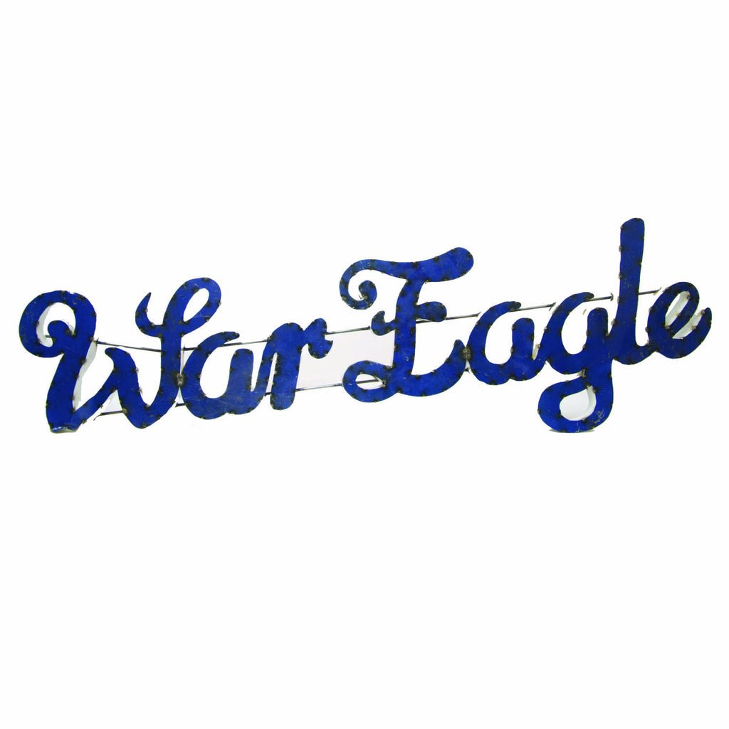 "Auburn University ""War Eagle"" SINGLE ROW NOT AVAILABLE Recycled Metal Sign"